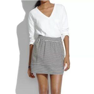 Madewell | Black & Cream Striped Skirt Sz 4 NWOT